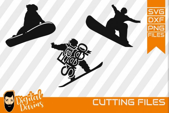 3x Snowboard Bundle svg, Snow svg file, winter sport svg