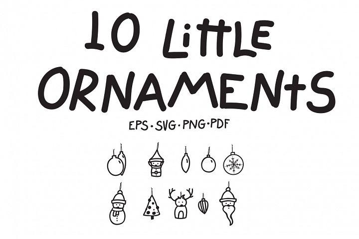 10 Little Ornaments