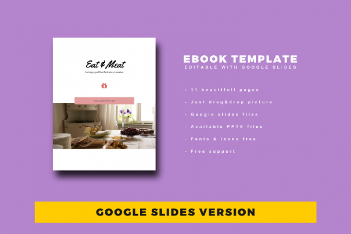 Recipe eBook Template Easy Editable Using Google Slides