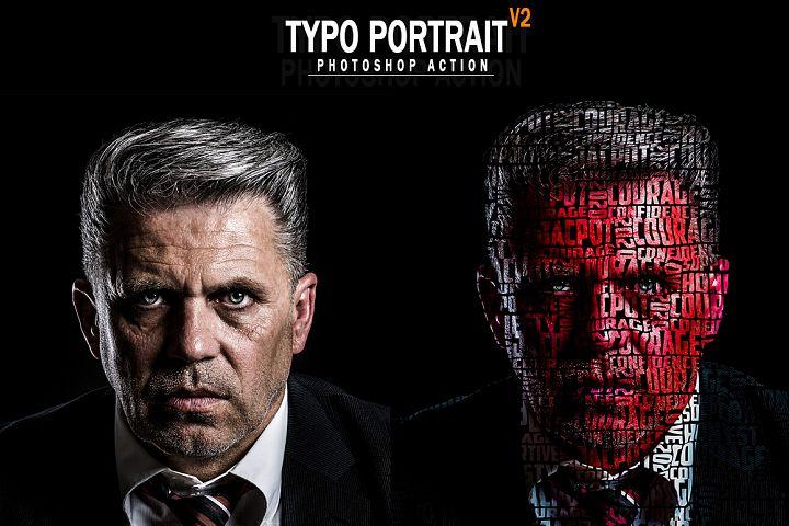 Typo Portrait v2 Photoshop Action