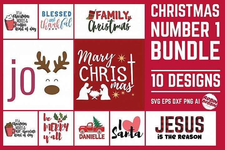 Christmas Bundle Number 1 - Merry Christmas Bundle SVG