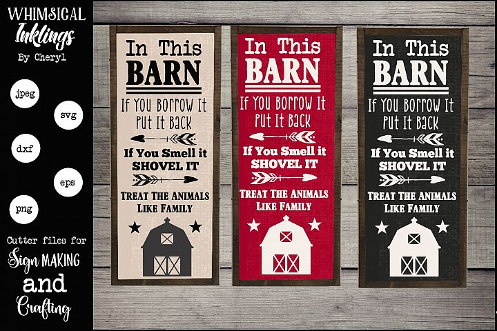 In This Barn SVG