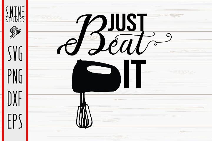Just Beat It Kitchen Cut File