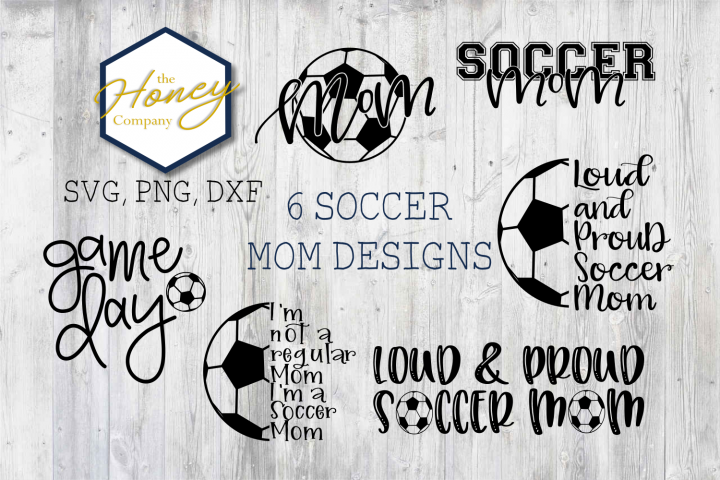 Soccer Mom Bundle SVG PNG DXF Cutting Files Sports