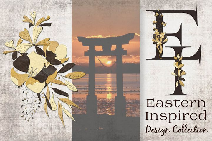 Black and gold Eastern-inspired design set