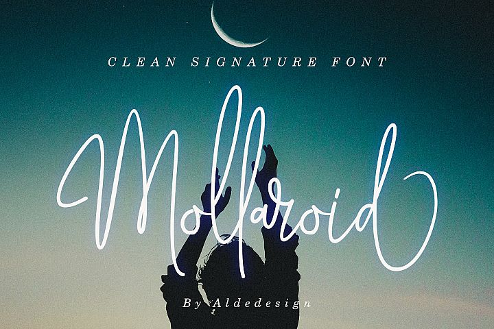 Mollaroid | Signature Font