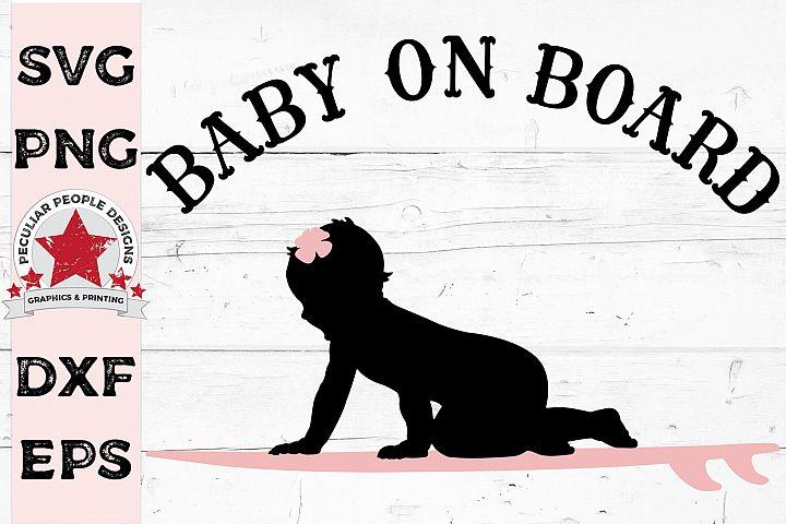 Baby On Board SVG Surfer Girl gender reveal Car Decal