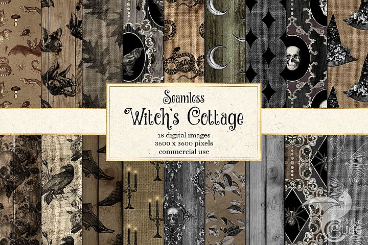 Witch Cottage Digital Paper