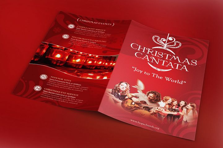 Christmas Cantata Bi-Fold Program Template