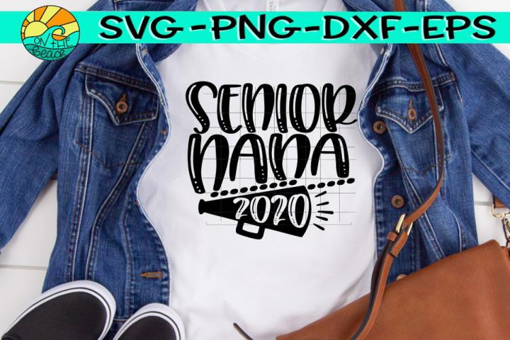 Cheer Nana Senior 2020 - SVG PNG EPS DXF