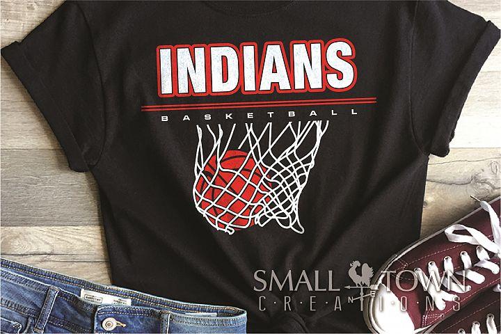 Indian, Indian basketball, Team, logo, PRINT, CUT & DESIGN