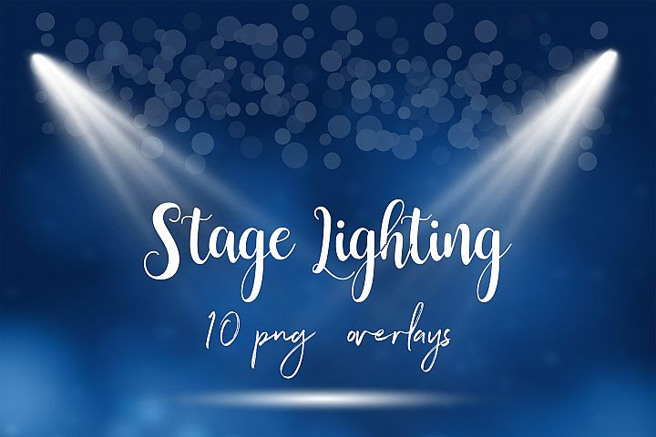 Stage Lighting Overlays, Spotlight Effects
