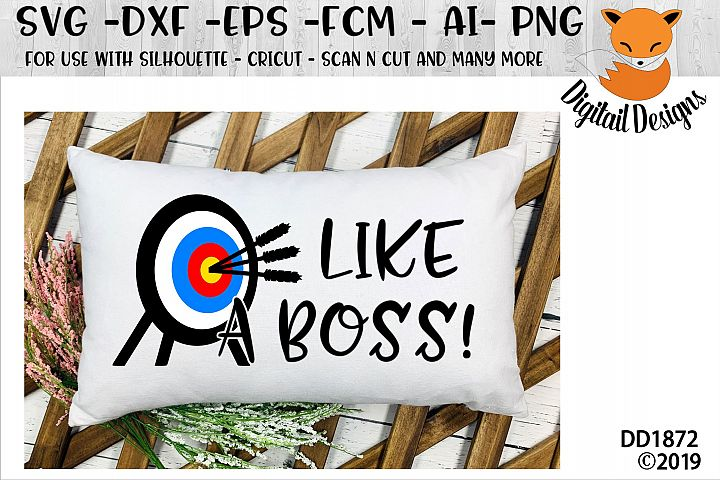 Like A Boss Archery Target SVG