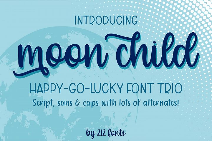 Moon Child Font Trio