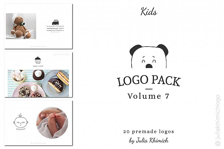 Logo Pack Volume 7. Kids