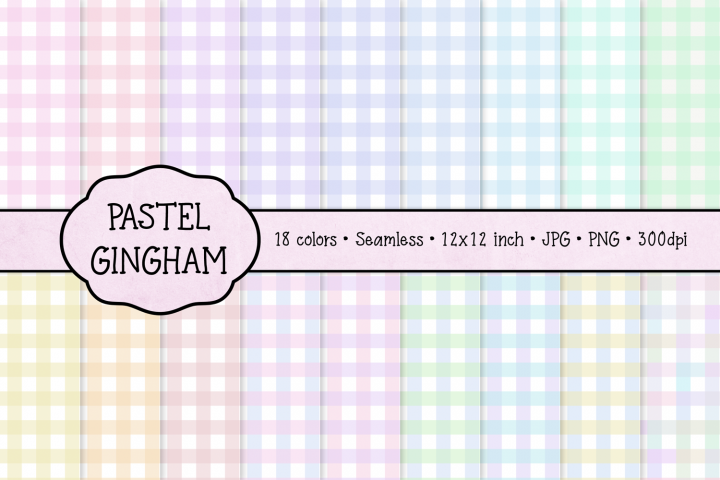 Pastel Gingham