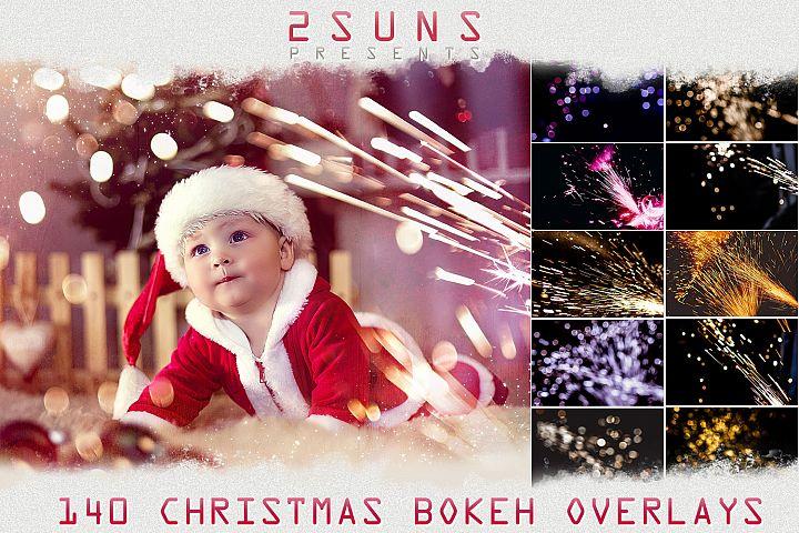 Christmas sparklers Lights, Bokeh photo overlays textures