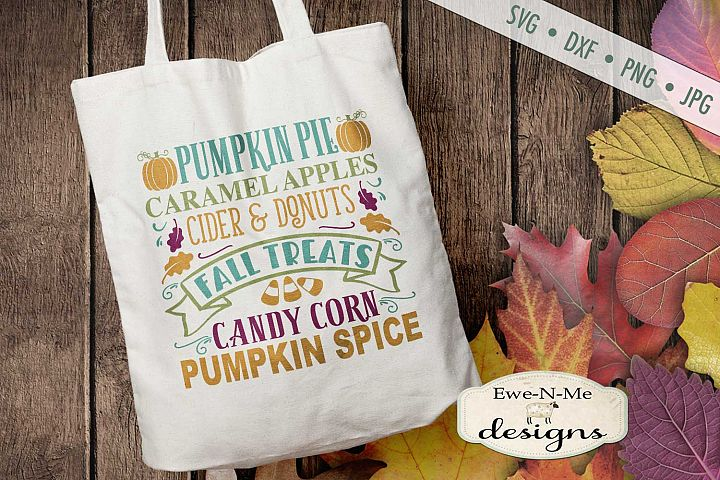 Fall Treats - Autumn Subway - Pumpkin Leaves - SVG DXF Files