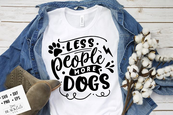 Less people more dogs SVG