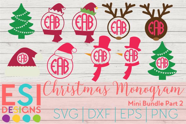 Christmas Monogram Design Mini Bundle Part 2|SVG DXF EPS PNG