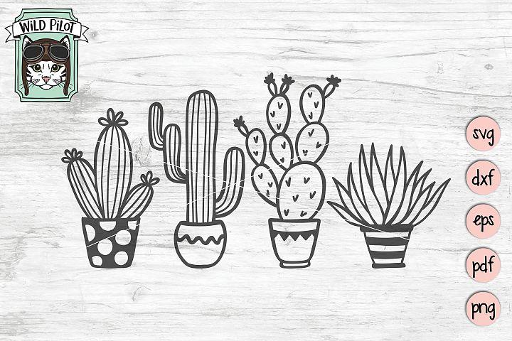 Cactus svg file, Cactus cut file, Succulent, potted plant