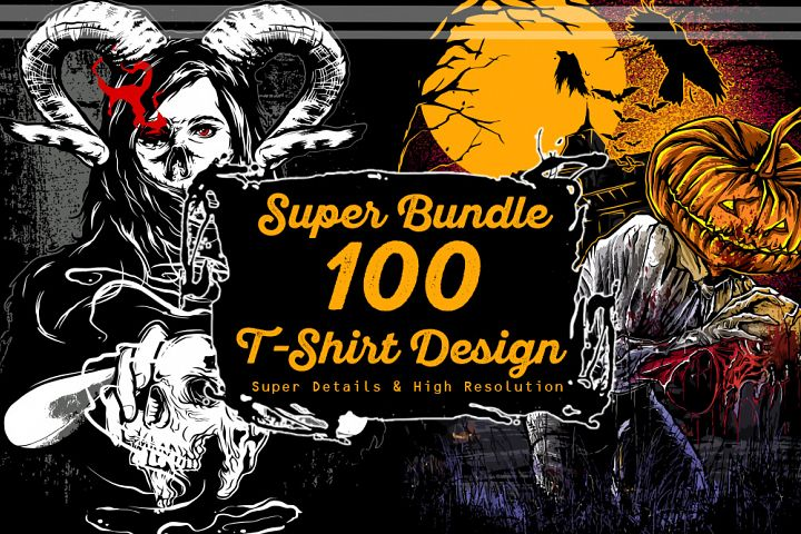 Super Bundle 100 T-Shirt Design