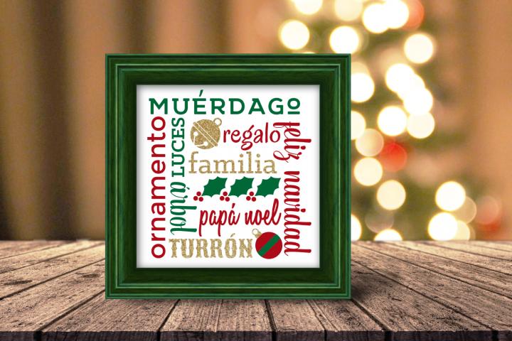 Navidad Cuadrado Christmas Subway Art SVG File