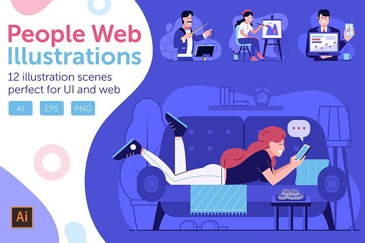 Web Marketing People Illustrations