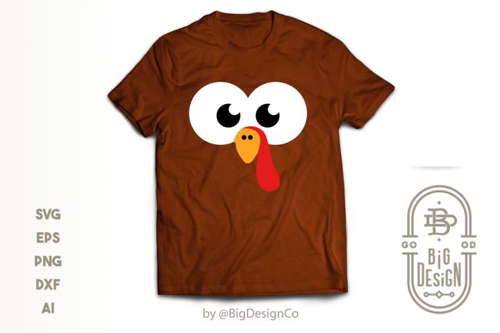 Boy Turkey Face SVG - Thanksgiving Svg