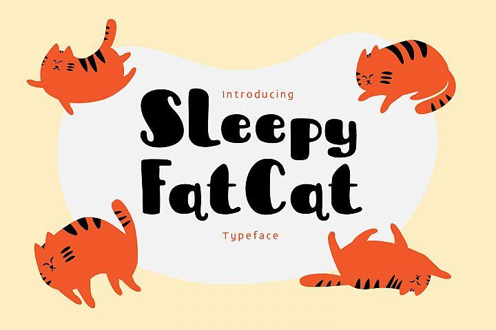 Sleepy Fat Cat