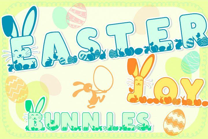 Easter Joy Bunnies - A Lovely Craft Font