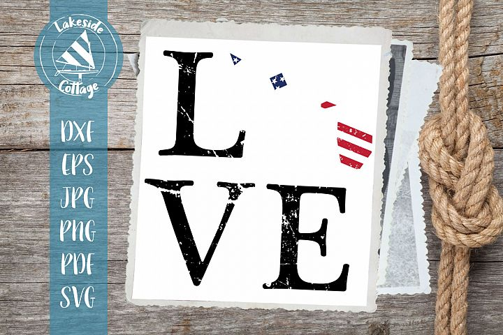LOVE Hawaii - 4th of july svg - memorial day svg dxf eps