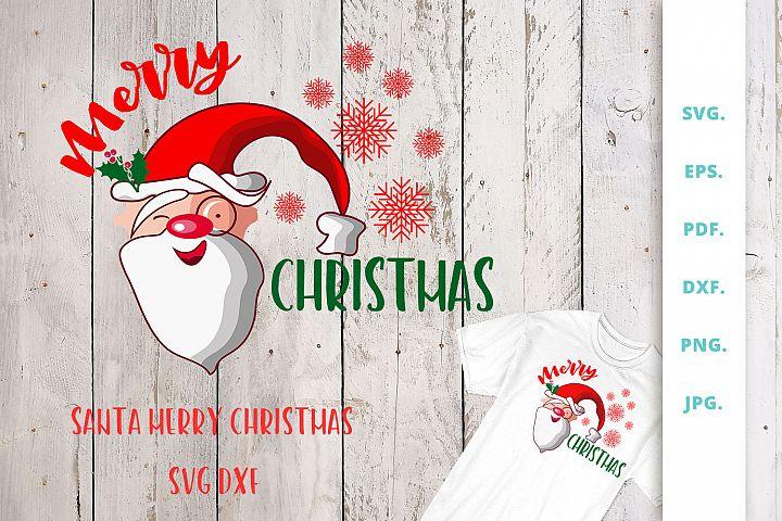 Santa Merry Christmas SVG | DXF