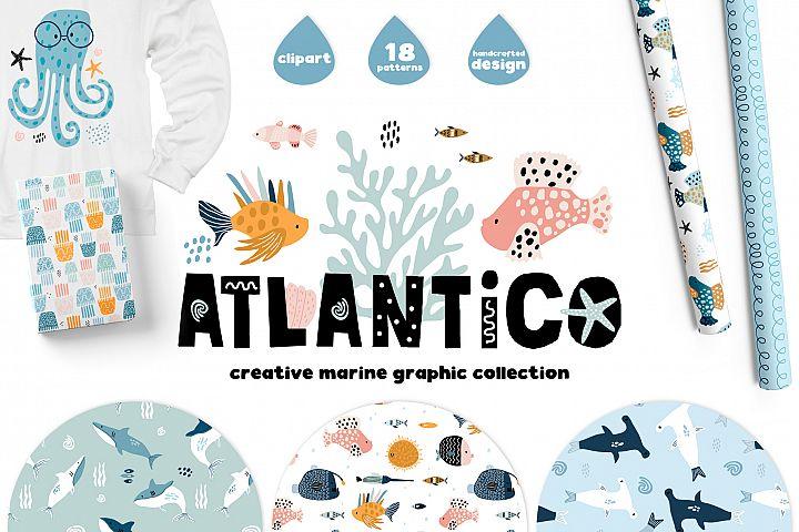 ATLANTICO. Marine graphic collection