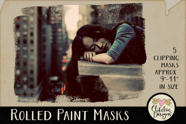Clipping Masks - Rolled Paint Photoshop Masks & Tutorial