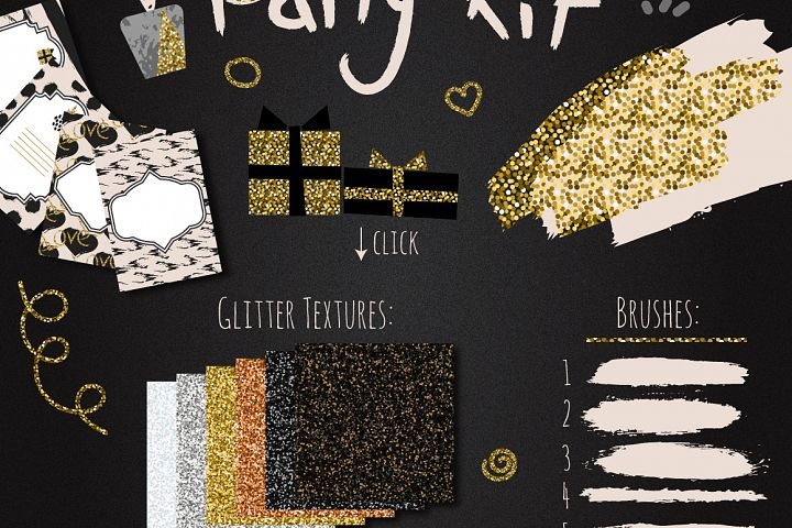 DIY Glam Party Kit - 100 elements!