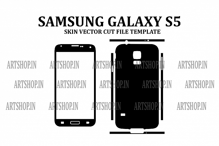 Samsung Galaxy S5 Vinyl Skin Vector Cut File