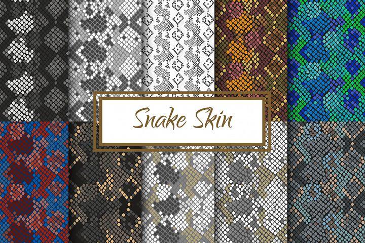 Snake Skin seamless pattern set