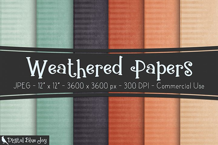 Digital Paper Textured Backgrounds - Weathered
