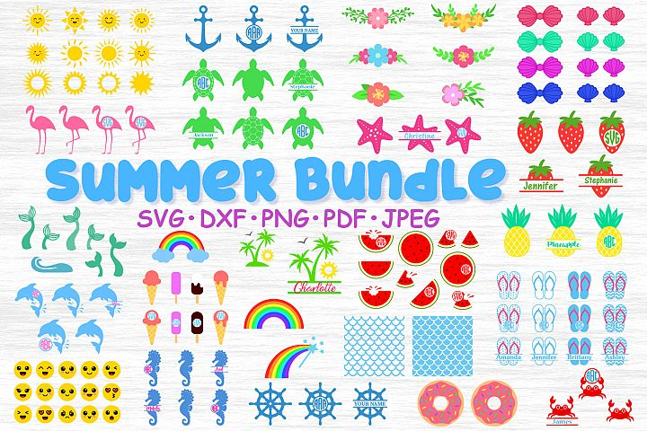 Big Summer bundle svg, Summer bundle cut, Summer clipart png