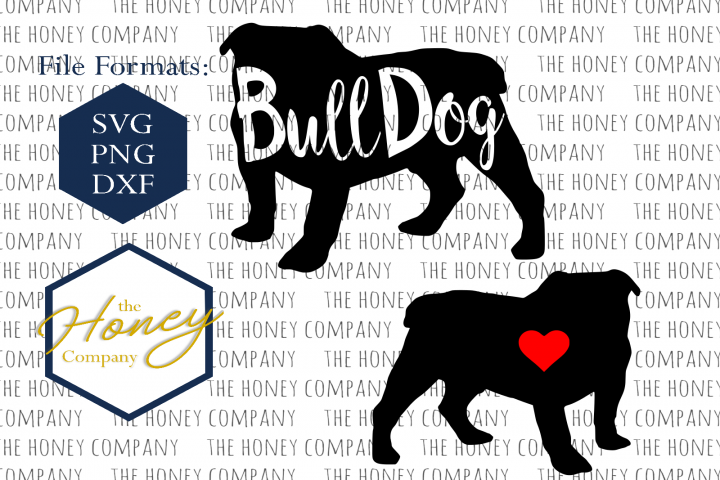Bulldog SVG PNG DXF Dog Breed Lover Cut File Clipart