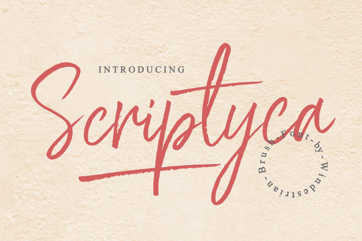 Scriptyca | Script Brush Font