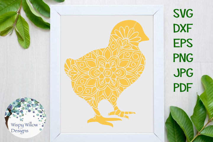 Chick Mandala, Easter, Spring SVG