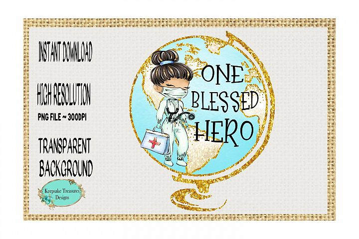 One Blessed Hero, Sublimation Design