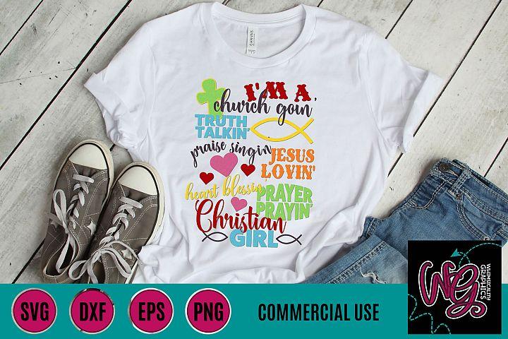 Jesus Lovin Christian Girl SVG DXF PNG EPS Comm