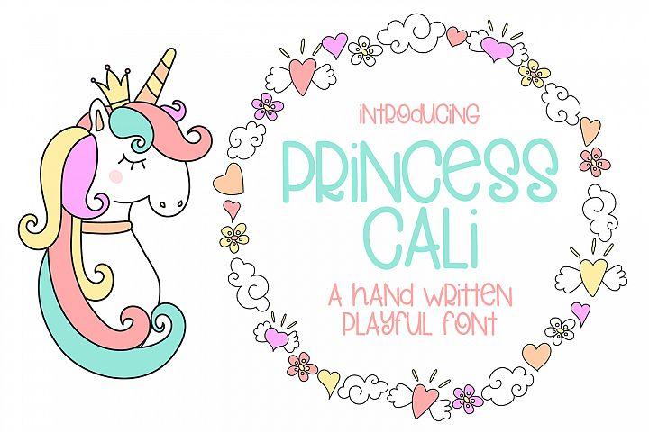 Princess Cali - A Hand Written Playful Font