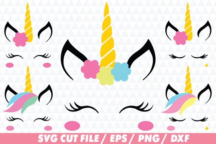 Unicorn Clipart and Cut File SVG / EPS / PNG / DXF