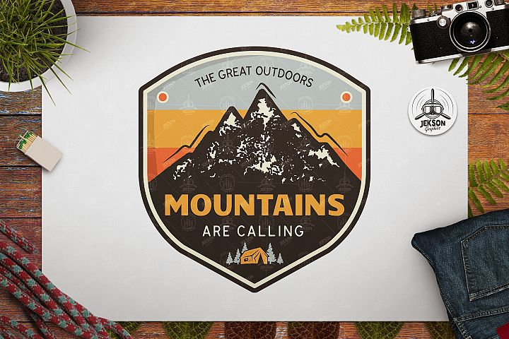 Great Outdoors Badge / Vintage Travel Logo Patch