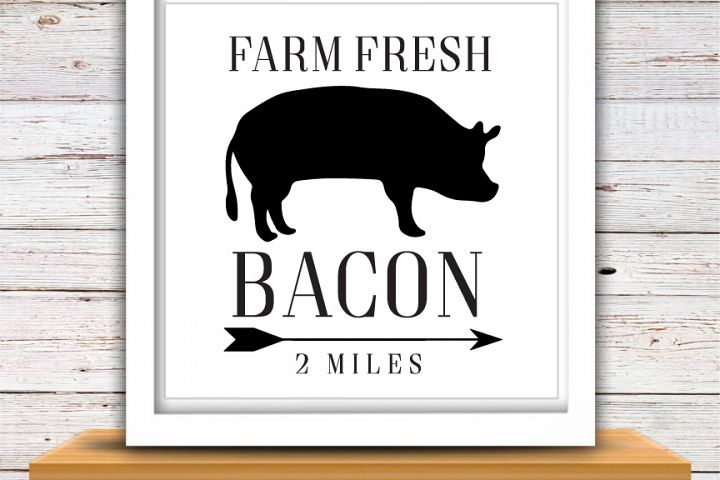 Farm Fresh Bacon SVG | Farm Fresh SVG | Farmhouse | High Quality Svg Eps Dxf Png Files | Cricut Files Silhouette Cameo | Instant Download