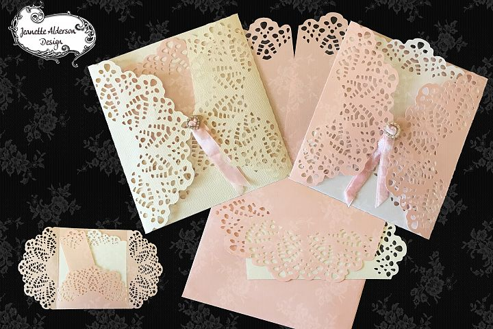 Lacey Gatefold Card 10 greeting card cutting file